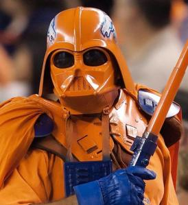 Darth Bronco, idiot NFL fans, nfl fan costumes